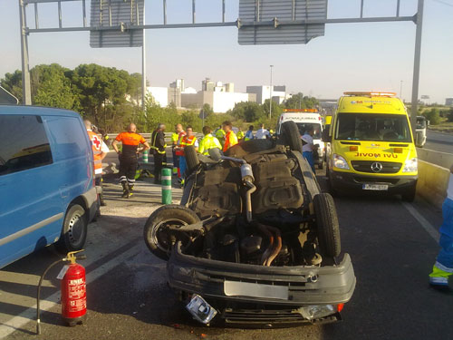 Accidente de tráfico en A4
